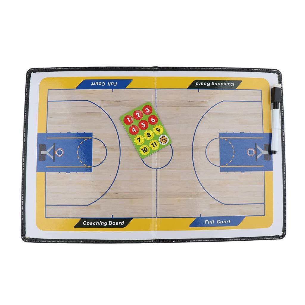 IPOTCH Basketball Taktik Board Strategieboard Strategie Zwischenablage aus Kunstleder 41,5 x 27,8 cm