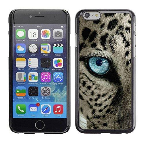 PC/Aluminum Mince Coque Housse Etui Pour Apple Iphone 6 Plus 5.5 ocelot blue black spots blue eye cat / JUSTGO PHONE PROTECTOR