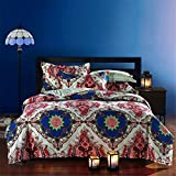 Newrara Bohemian Bedding Boho Comforter Set Queen Size 5pieces (7)