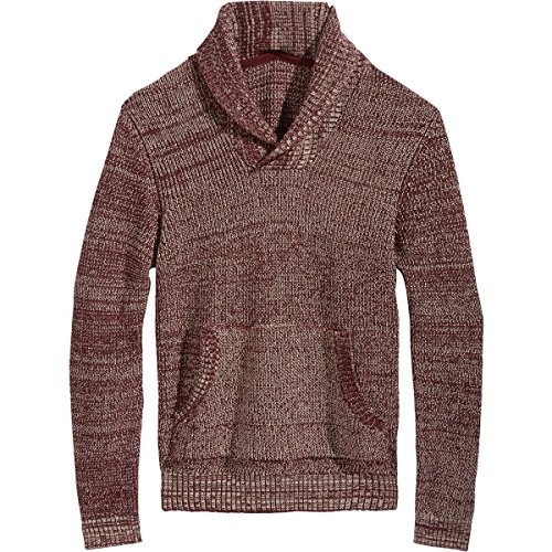 (American Rag Mens Ribbed Knit Shawl Collar Pullover Sweater Red S)