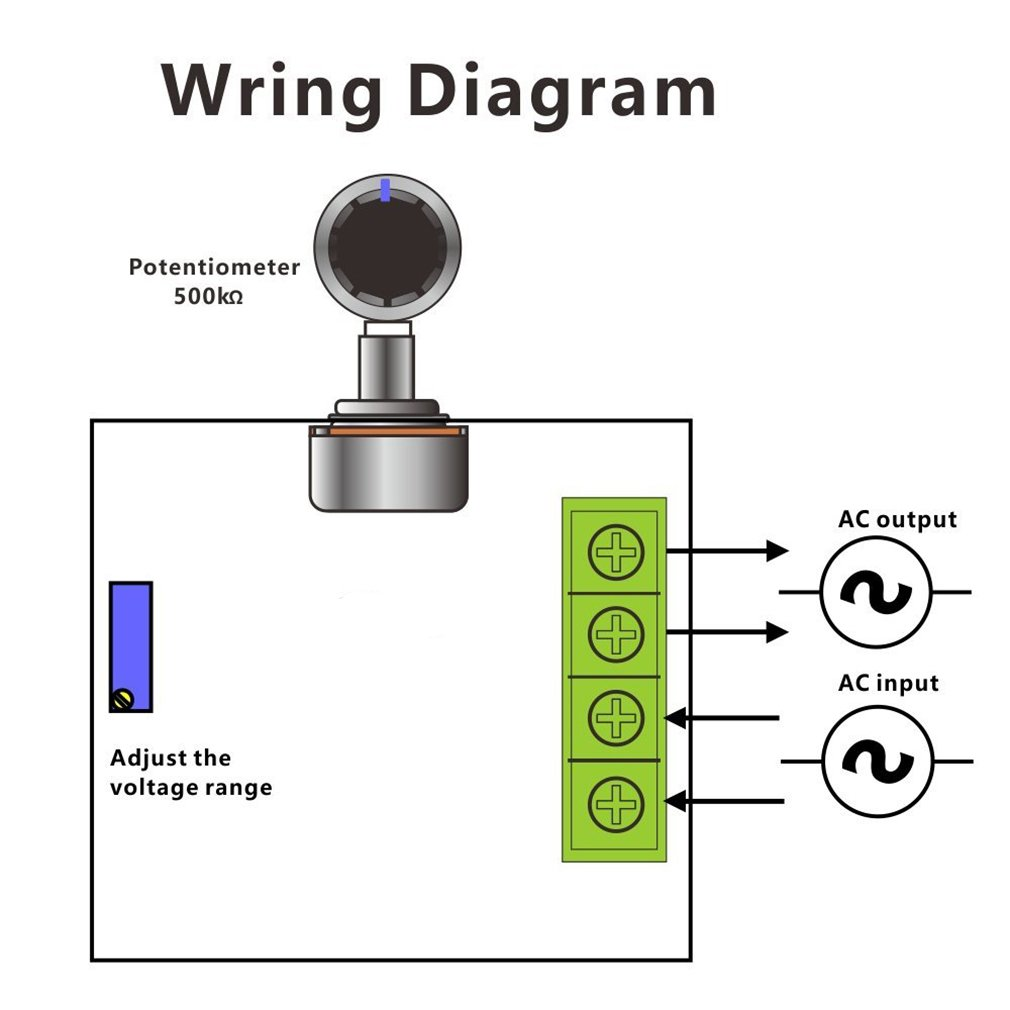 Hiletgo 2000w Pwm Ac Motor Speed Control Module Dimmer 220 Volt Wiring Diagram 12 Lead Regulator 50 220v Adjustable Voltage Home Improvement