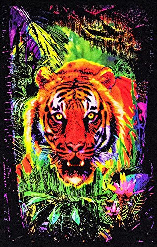Opticz Jungle Tiger Blacklight Reactive Poster Blacklight