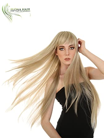 Extra Long Wig With Bang Straight Hair For White and Black Woman Stella 2 + 20