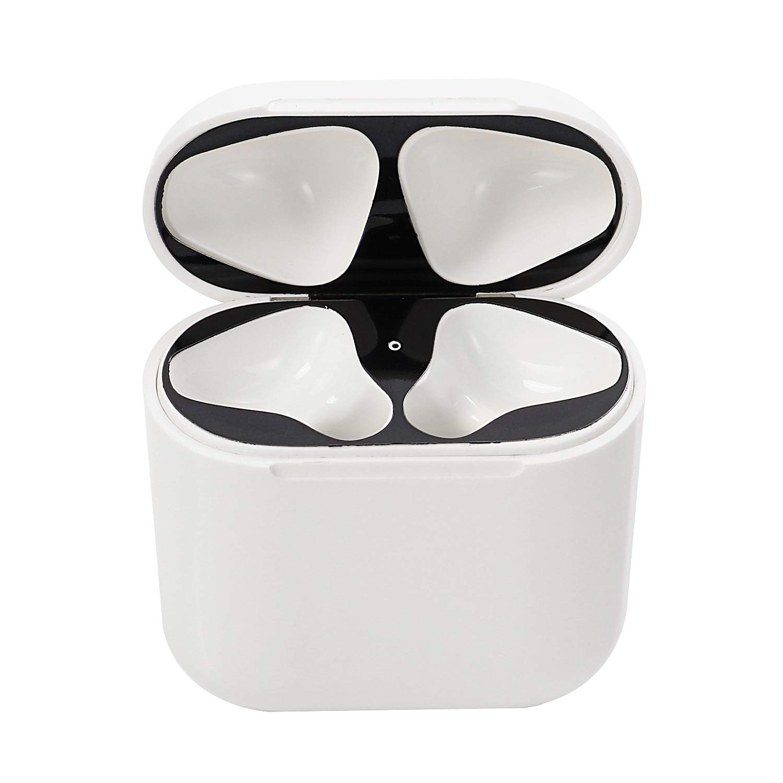Solomo AirPodsケース用ダストガード シャイニースタイリッシュ [0.04mm] [フルカバレッジ] [18Kゴールドメッキ] プレミアムメタリック保護ダストガードカバー Apple Airpods充電ケースに簡単に取り付け ブラック DUACSSSFPBD  ブラック B07PPMPBYS