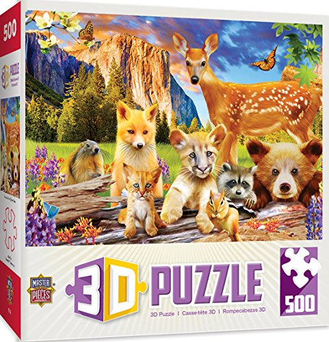 Puzzle Lenticular 3d - MasterPieces Lenticular Cuddly Kittens 500 Piece 3D Jigsaw Puzzle by Michael Searle