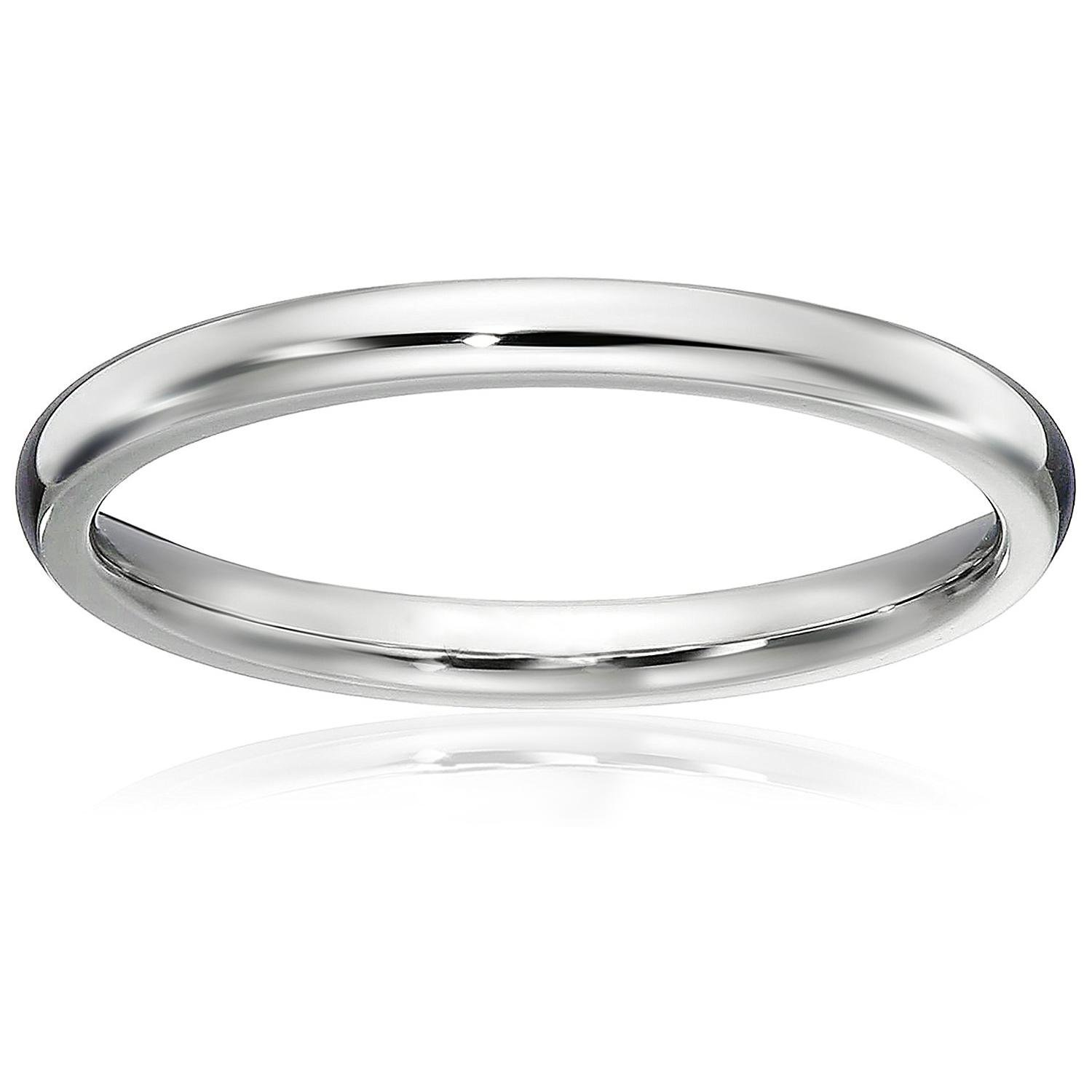 Athena Jewelry Titanium Series 1.5 MM Titanium Comfort Fit Wedding Band Ring Classy Domed Ring(Size Selectable) (6.5)