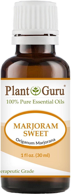 Marjoram Sweet Essential Oil. 30 ml (1 oz) 100% Pure, Undiluted, Therapeutic Grade. by Plant Guru   B00CBYIPAA