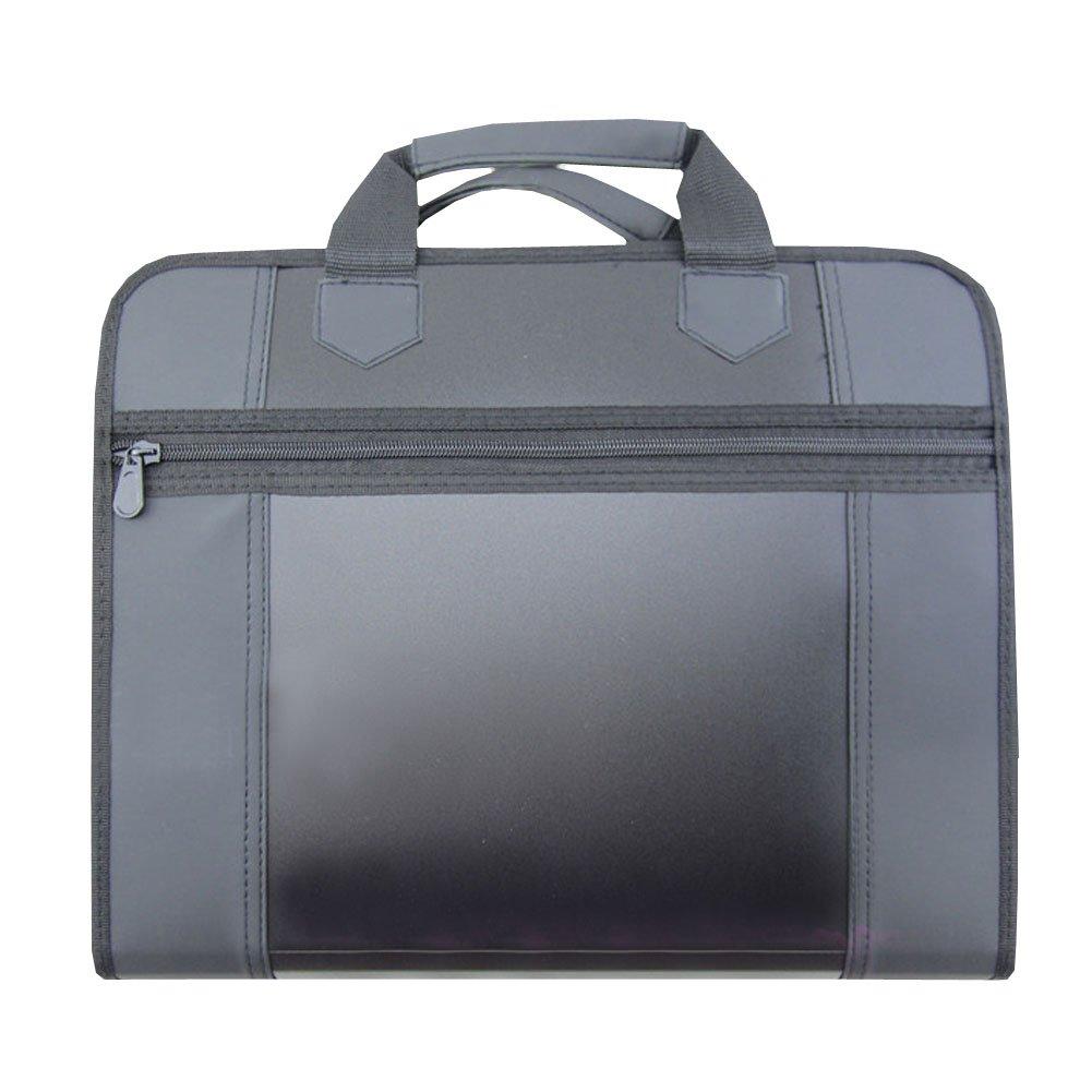 Multifunction Laptop Bag Document Organizer Holder Briefcase (37x31x8cm) BLACK low-cost