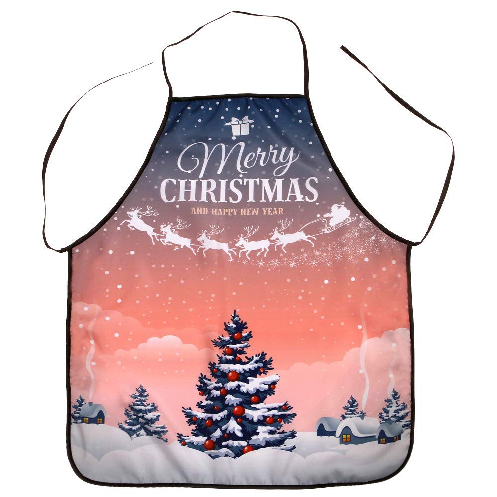 Rosiest Christmas Decoration Waterproof Apron Christmas Dinner Party Apron
