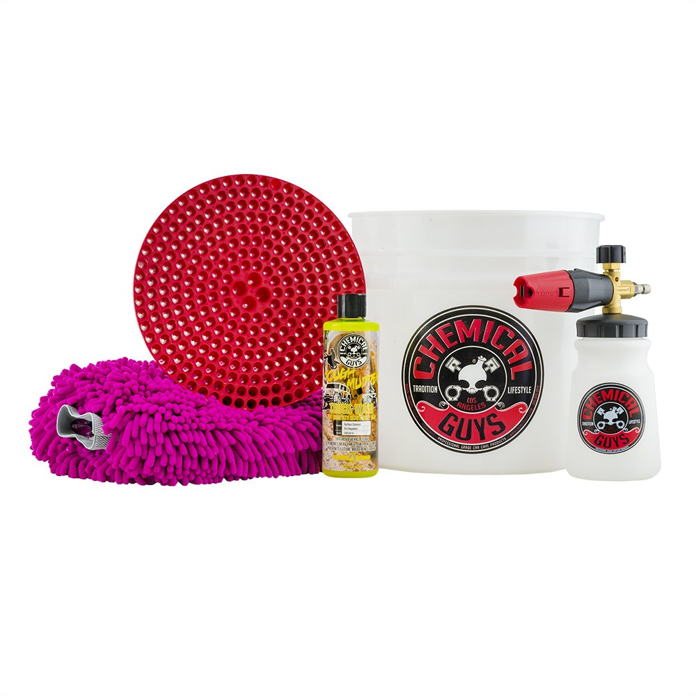 Chemical Guys HOL320 Big Mouth Foam Cannon Truck Wash Starter Kit (5 Items), 16. Fluid_Ounces