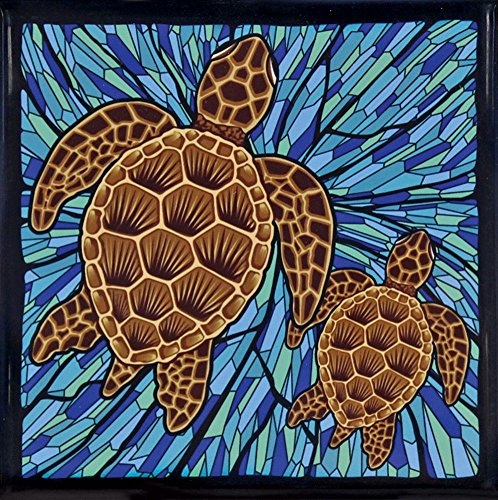 Hawaii Ceramic Tile Trivet Blue Honu Turtle by Islander