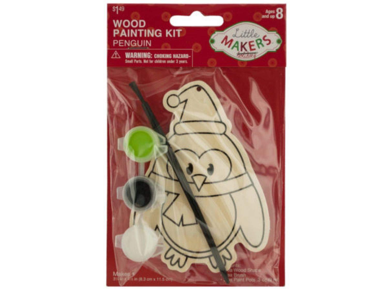 StarSun Depot Holiday Penguin Decoration Wood Painting Kit - Set of 72