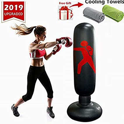 Amazon.com: Saco de boxeo inflable para niños, para niños ...