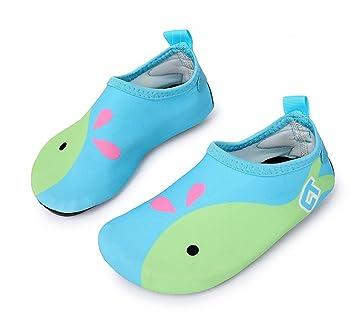 Fortunings JDS Dibujos animados multifuncional descalzo niños zapatos de agua ligero surf buceo nadando natación Aqua
