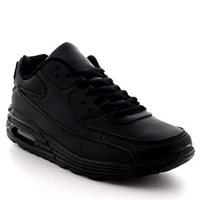 f46ecd318477c Get Fit Womens Running Air Bubble Sports Shock Absorbing Lightweight Gym  Walking Trainers - Black -