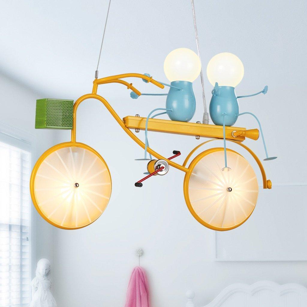 MILUCE Moderne minimalistische Karikatur kreative Licht LED Fahrrad Kinder Kronleuchter Schlafzimmer Schlafzimmer Junge Raum Lichter