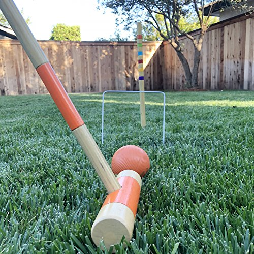 35 28 Options Modern Wood Design with Deluxe GoSports Six Player Croquet Set for Adults /& Kids and Standard
