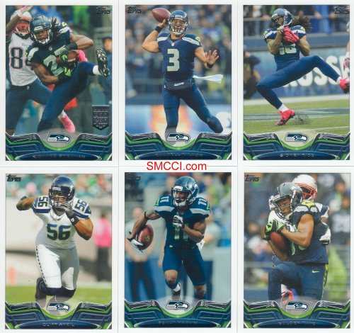 (Seattle Seahawks 2013 Topps Complete Regular Issue 19 Card Team Set Including Russell Wilson, Marshawn Lynch, Sherman and Others, Super Bowl Champions)