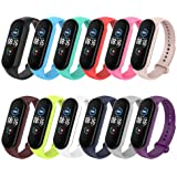 Simpeak Silicone Replacement Straps Compatible with Xiaomi Mi Band 5 Band Bracelet, Strap Wristband WatchBand…