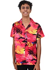 Island Style Clothing Mens Sunset Hawaiian Shirts Floral Tropical Party Cruise Clothing