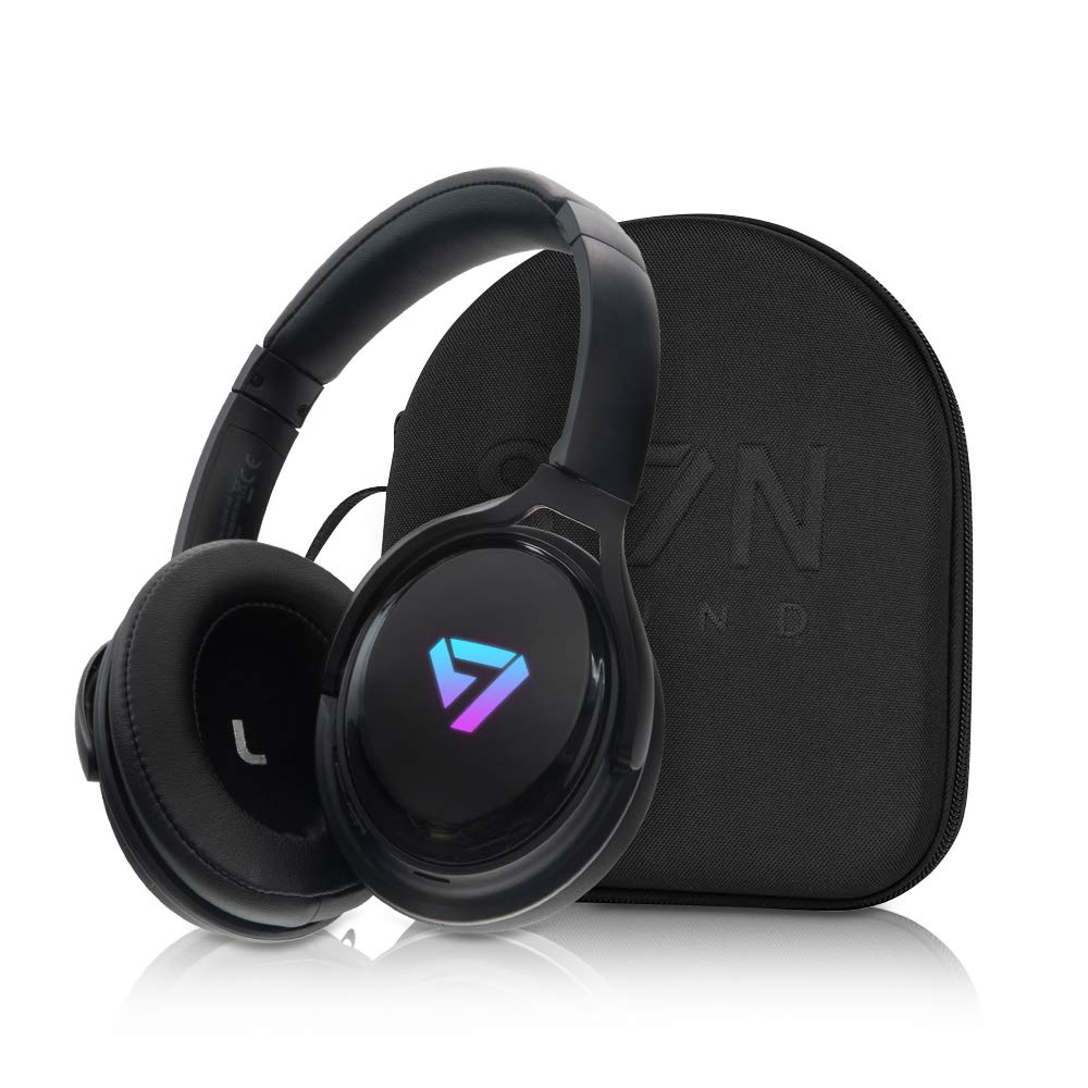 SVN Sound by Steve Aoki Color Changing NEON 100 Premium Over Ear Noise Cancellation Bluetooth Headphones