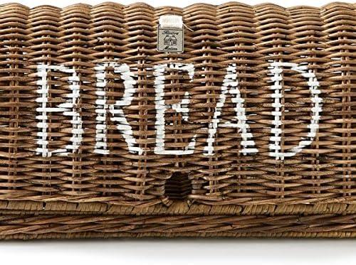Riviera Maison Bo/îte /à pain en rotin style rustique 42 x 21 x 21 cm