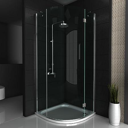 Cabina de ducha/cuadrante ducha/ducha de 100 x 200 cm aprox/mampara de cristal funshirt/cabina de ducha de vidrio con juego de accesorios de/redondo ducha/guardapolvo para puerta/alpen Berger: Amazon.es: Hogar