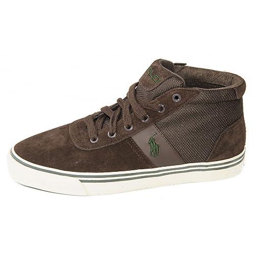 Polo Ralph Lauren - Zapatillas para Mujer Marrón marrón 44: Amazon ...