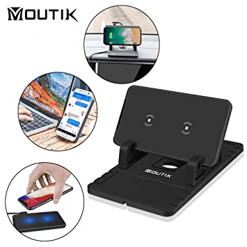 Moutik Cargador Inalámbrico Rápido para iPhone X/8/8Plus ...