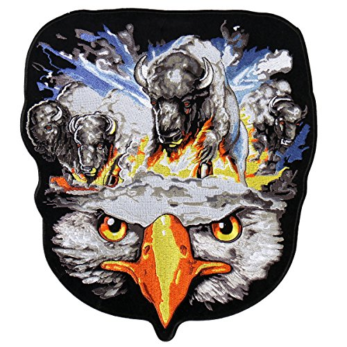 - Hot Leathers, AMERICAN SPIRIT, High Thread Embroidered Iron-On / Saw-On, Heat Sealed Backing Rayon PATCH - 10