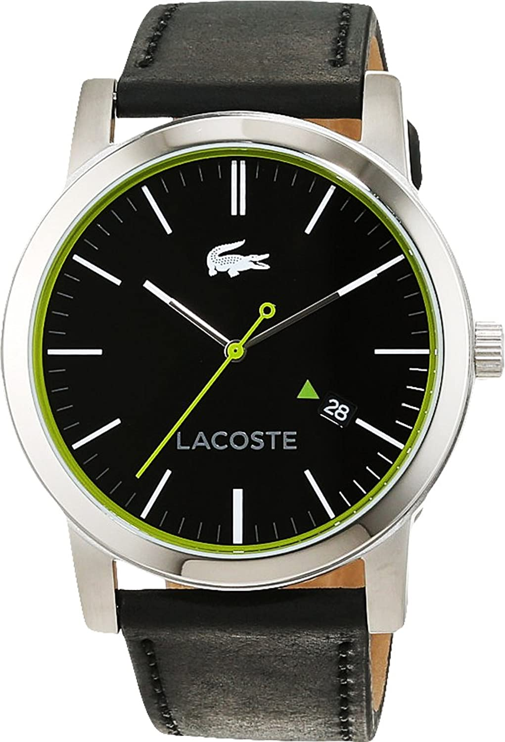 lacoste mens watch 2010851 amazon co uk watches lacoste mens quartz watch analogue classic display and leather strap 2010847