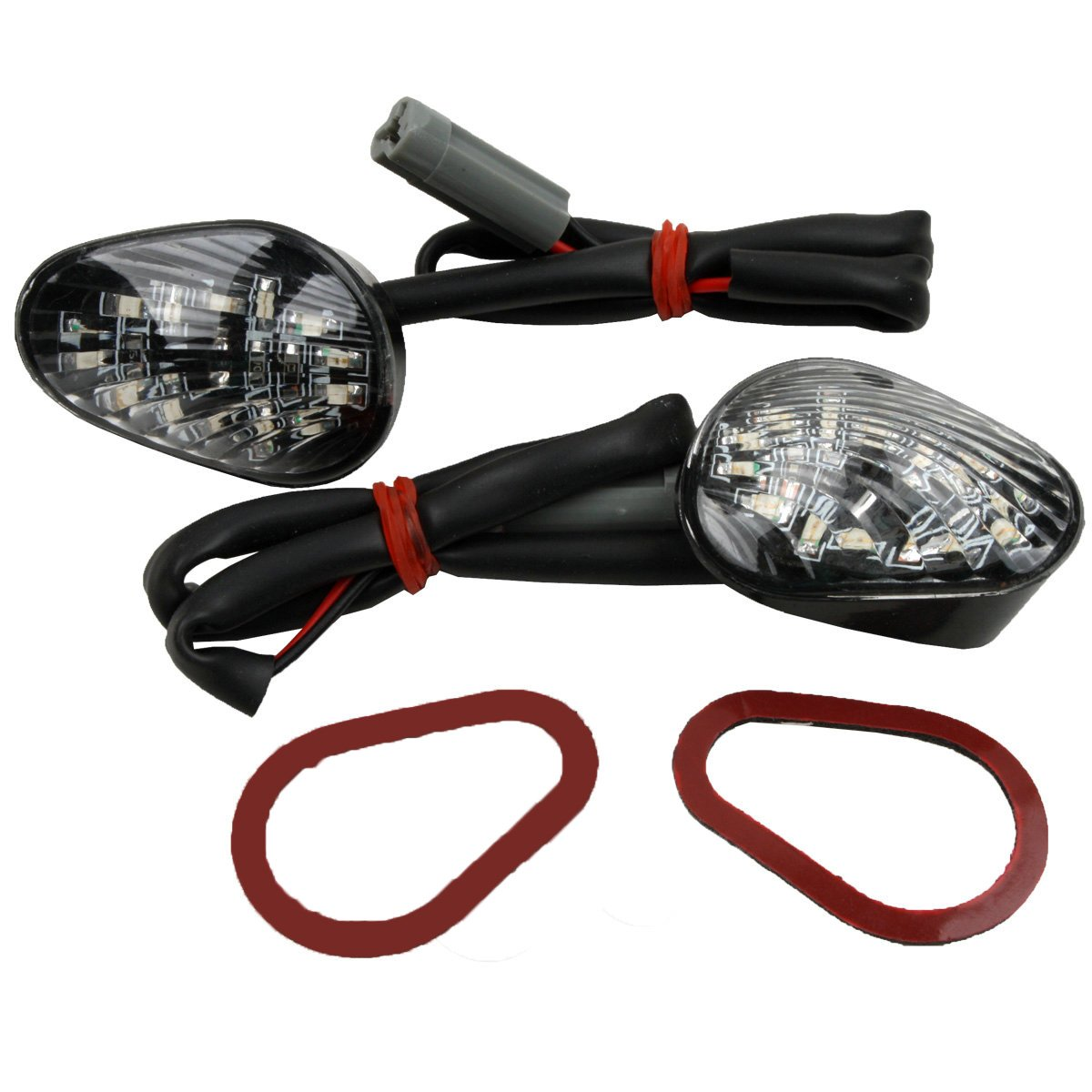 XMT-MOTO Clear Turn Signals Flush Mount LED For Yamaha YZF R1 2002-2012 R6 2003-2012
