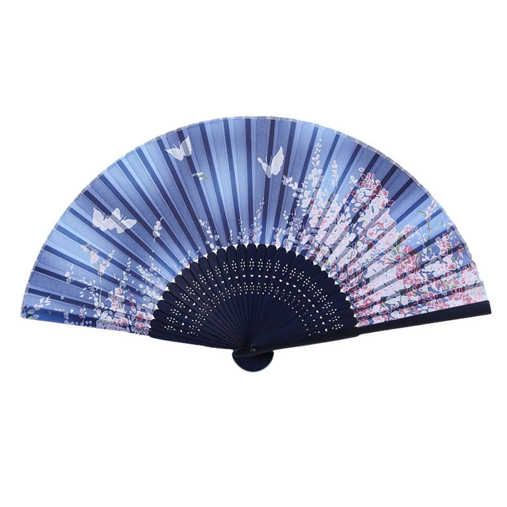Lenfesh Chinois Traditionnel Ventilateur Creux en Bois Fan Fait Main Exquis Pliant Cadeau De Mariage