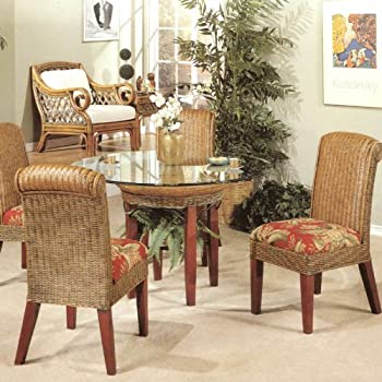 Amazon Com Panama Rattan Wicker Dining Chair Table 5