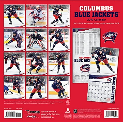 19998011958 Turner 1 Sport Vancouver Canucks 2019 12X12 Team Wall Calendar Office Wall Calendar