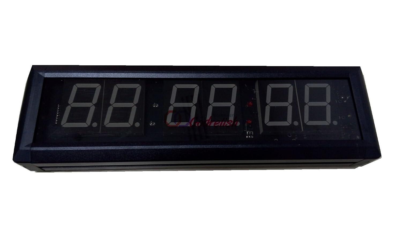 Godrelish Reloj de pared LED gimnasio de Crossfit temporizador de intervalos Cronómetro con control remoto IR: Amazon.es: Deportes y aire libre