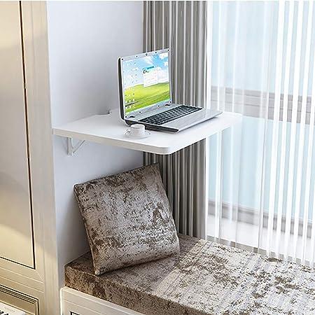 Outech Mesa Plegable de Pared, Mesa para Computadora Portátil, Mesa de Trabajo Carga Máxima 50kg Blanco: Amazon.es: Hogar