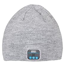August EPA20 – Bluetooth Cap – Winter Beanie Hat with Bluetooth Stereo Headphones, Microphone, Hands Free System and Rechargeable battery – Compatible with Mobile Phones, iPhone, iPad, Laptops, Tablets, Smartphones (Gray)