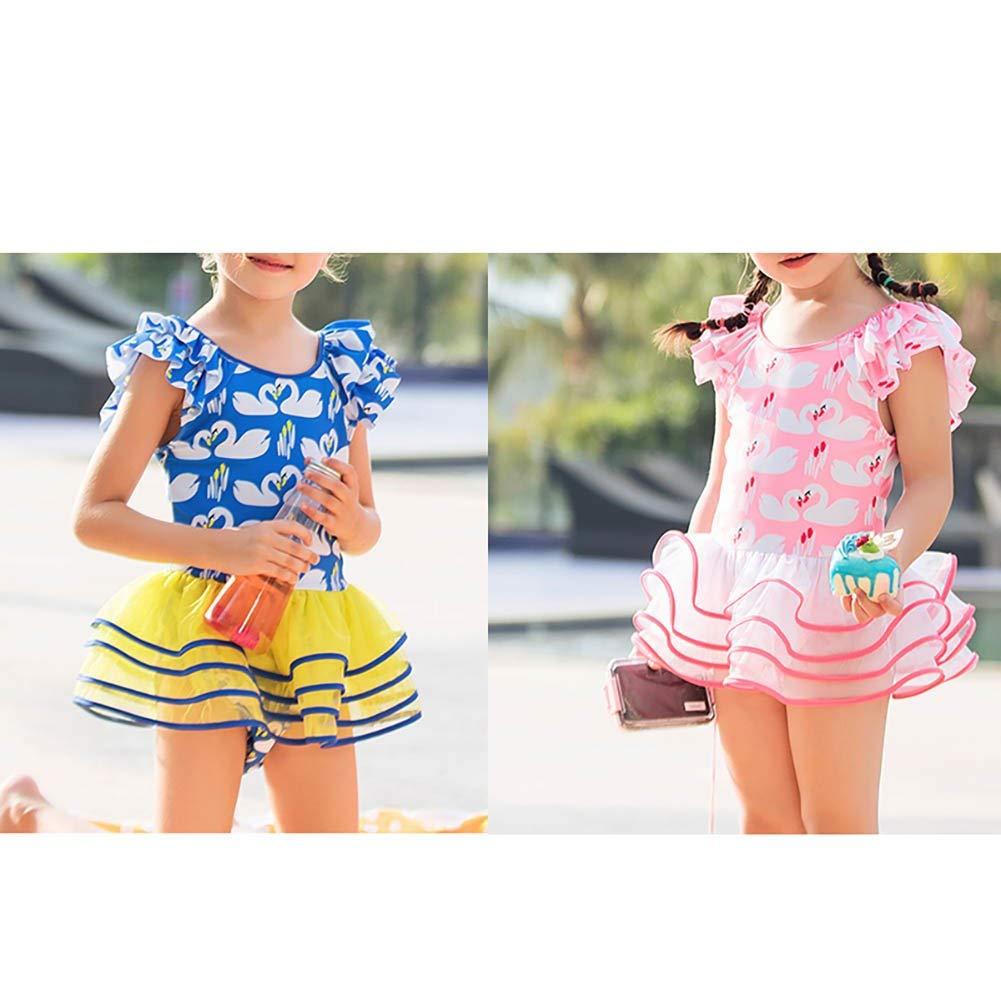 Sun Protection Baby Toddler Girls One Piece Swimsuits Bathing Princess Cute Swimwear Tankini Dress UPF50