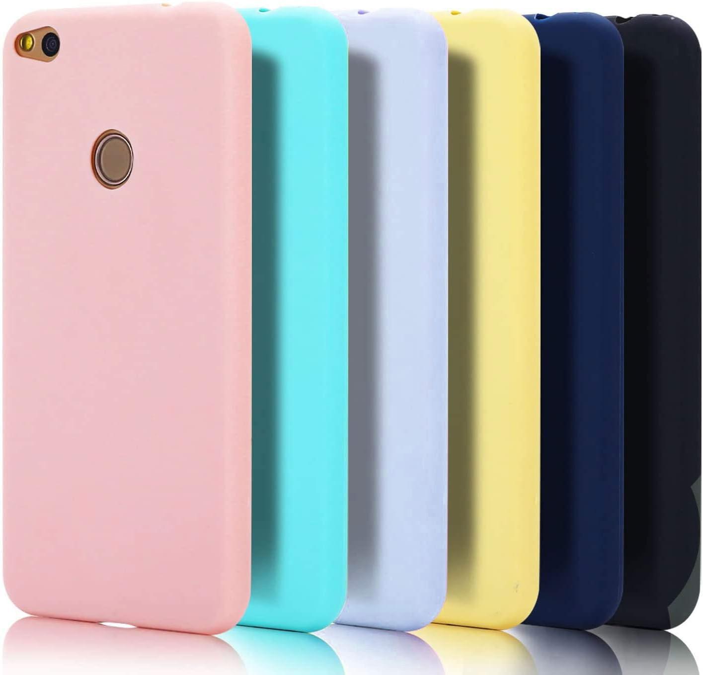 Caselover 6X Funda Huawei P8 Lite 2017, Suave TPU Silicona Carcasa para Huawei P8 Lite 2017 Ultra Delgado Flexible Goma Mate Opaco Protectiva Caso Anti Rasguños Case Cover Bumper- 6 Color