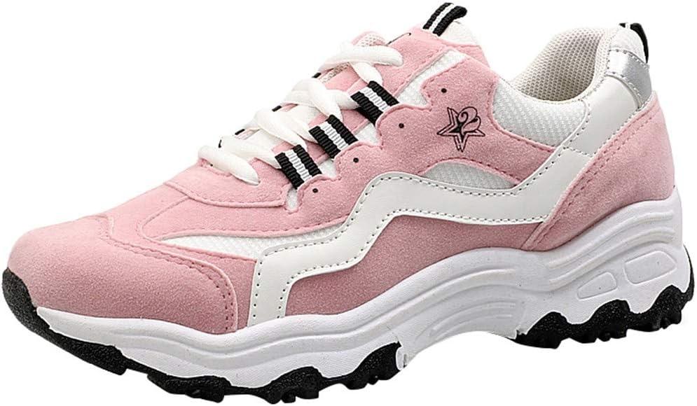 LuckyGirls Calzado Deportivo de Mujer Moda Zapatillas de Correr Casuales Zapatos Color de Mezcla Bambas: Amazon.es: Deportes y aire libre