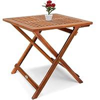 Deuba® Klapptisch Akazie Beistelltisch Holztisch Gartentisch Campingtisch 70x70x73cm