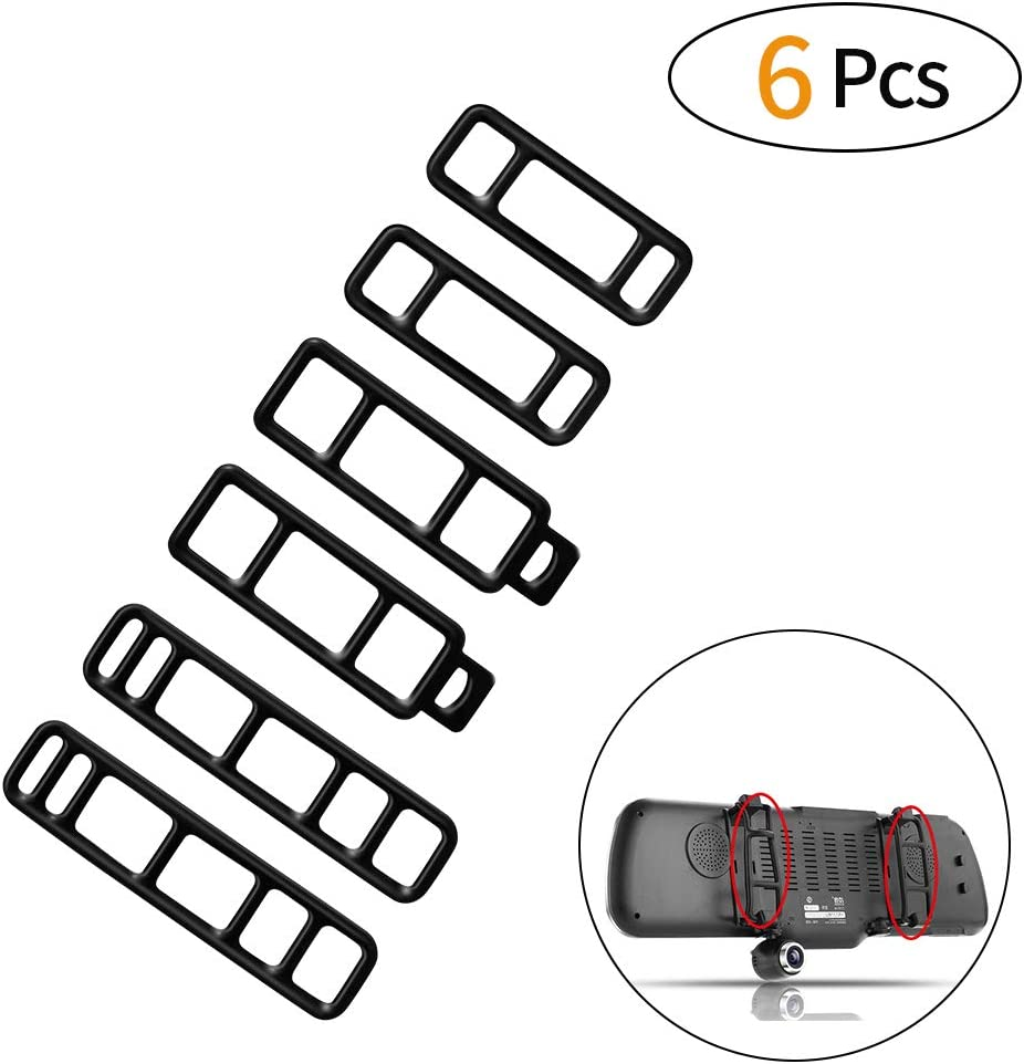 SENDOW Mirror Dash Cam and MostOther Car DVR 6 Pack Mirror Dash Cam Upgraded Straps,Bandage ,Silicone Rubber Band for AKASO,VICTONY ,TOGUARD,/ AUTO-VOX M3