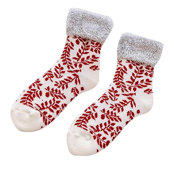 Rawdah_Calcetines Mujer Invierno Divertidos Termicos Algodon Calcetines De Algodón De Las Mujeres De Navidad Multi-