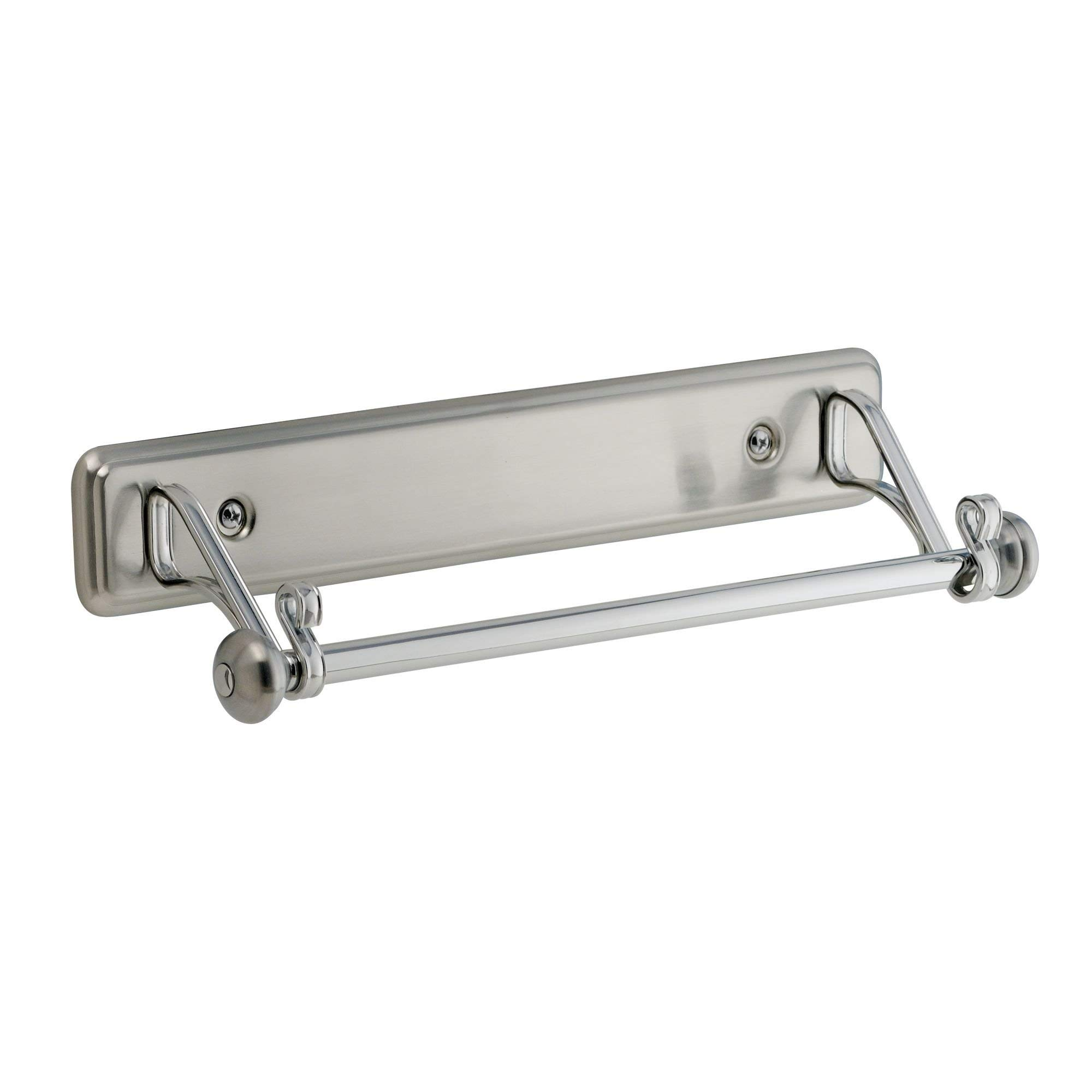 iDesign York Wall Mounted Metal Paper Towel Holder, Roll Organizer for Kitchen, Bathroom, Craft Room, 2'' x 15.3'' x 5.2'', Chrome and Stainless Steel Finish by iDesign