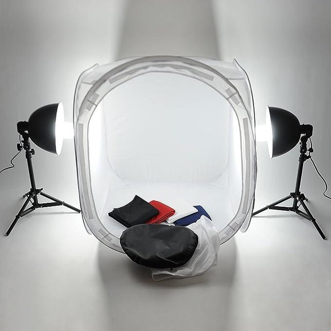 22 opinioni per Mvpower Kit Illuminazione Di Luce Continua Per Studio Fotografico 80 x 80 x 80CM