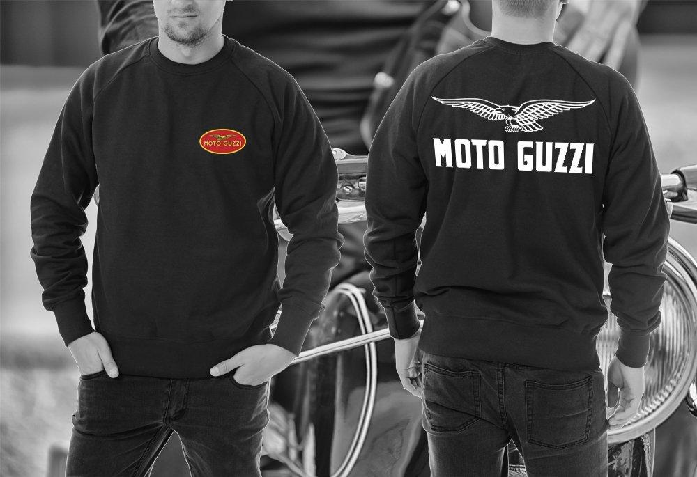 Felpa Moto Guzzi manica lunga girocollo Tagla M Adesiviautoemoto