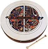 """Waltons Bodhrán 8"""" (Skellig) - Handcrafted Irish Instrument - Crisp & Musical Tone - Hardwood Beater Included w/Purchase"""