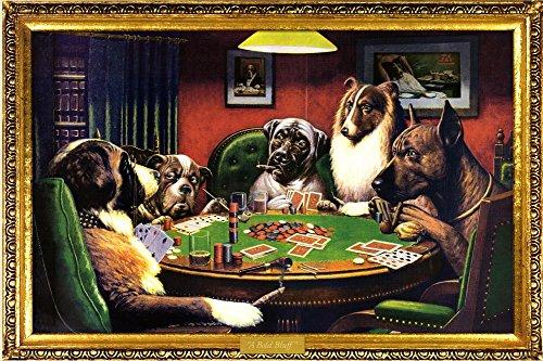 (24x36) C.M. Coolidge (Bold Bluff, Dogs Playing Poker) Art Poster (Dogs Playing Poker)