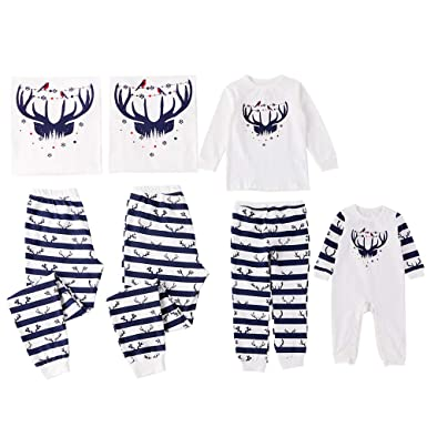dde9a2e61 Amazon.com  PatPat Family Matching Pajamas Set Two Pieces Jammies ...